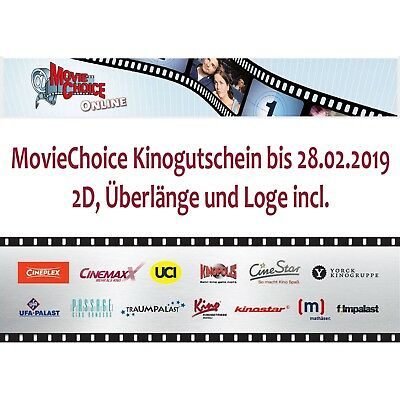 2x MovieChoice Kino Gutscheine Tickets Cinestar Cineplex Kinopolis UCI CinemaxX