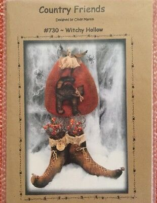 """PrImitive PATTERN """"Witchy Hollow"""" Country Friends Designed By Cindy Martin"""