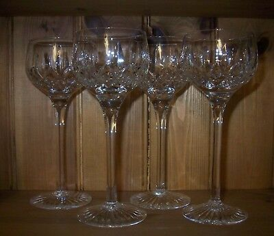4 x Stuart Crystal Glencoe Tall Hock/Wine Glasses