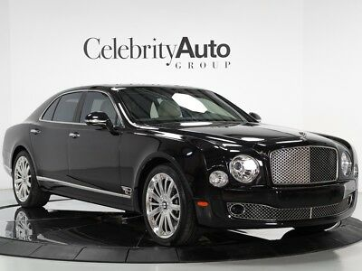 Mulsanne $358K MSRP (SAVE $180K FROM NEW....) 2015 BENTLEY MULSANNE $358K MSRP BLACK/WHITE MULLINER