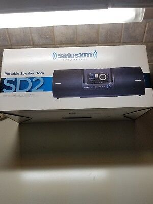 SiriusXM SD2 Portable Speaker Dock Boombox +Onyx EZ Radio Vehicle Kit NEW XEZ1V1
