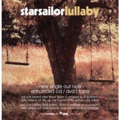 "STARSAILOR Lullaby CARD UK Chrysalis 2001 12"" X 12"" Promo Display Card"