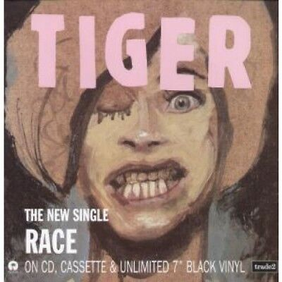 TIGER (INDIE GROUP) Race CARD 12 Inch Promo Flat Card For Single Release