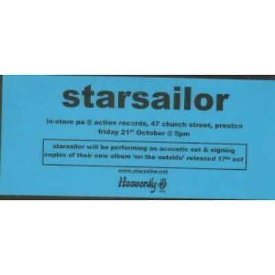 STARSAILOR Instore P.A. Action Records FLYER UK Heavenly Small Black And Blue