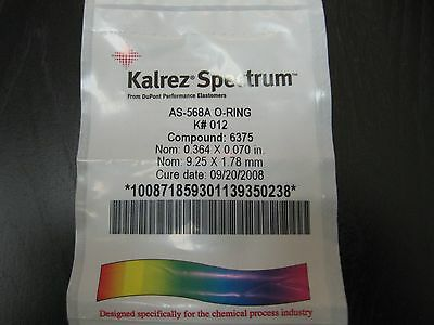Kalrez Spectrum Depont AS-568A O-Ring K # 012 Compound 6375 New in Plastic