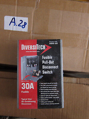 DiversiTech DDS-30 30-Amp Fusible Pull-Out Disconnect Switch