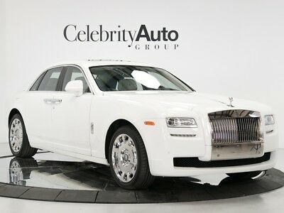 """Ghost White/White Pano, 20"""" Polished Forged Wheels 2014 ROLLS ROYCE GHOST VENT SEATS PICNIC TABLES EXTENDED LEATHER"""