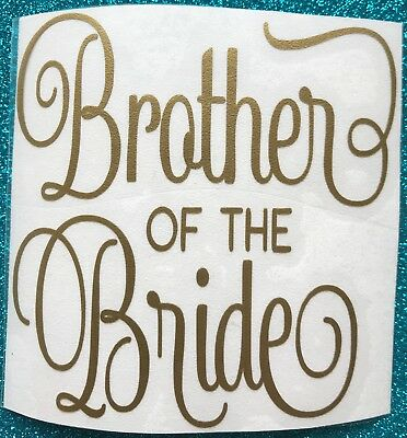 Brother Of The Bride, Brother Of The Groom Pint Glass Vinyl Wedding Decal