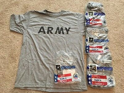 4 Army IPFU PT Gray T Shirt Short Sleeve Size Medium , NEW in Package