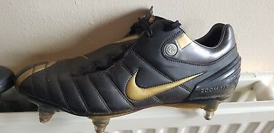 fc3046ec651e Mens Black   Gold Nike Zoom Air Total 90 Supremacy Football Boots Uk 9.5  RARE