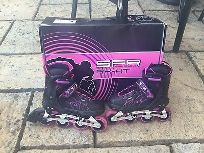 Roller Blades Adjustable Fitting Size Uk 13-3 Great Condition