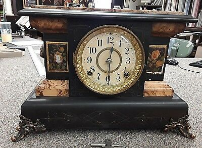 Beautiful Seth Thomas Adamantine #104 Mantle Clock Circa 1880