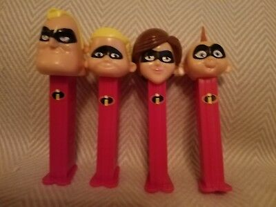 Lot Of 4 Disney Incredibles Pez Dispensers