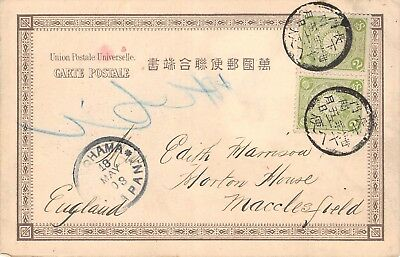 JAPAN,  Postcard used from Yokohama in May 1903 to the UK