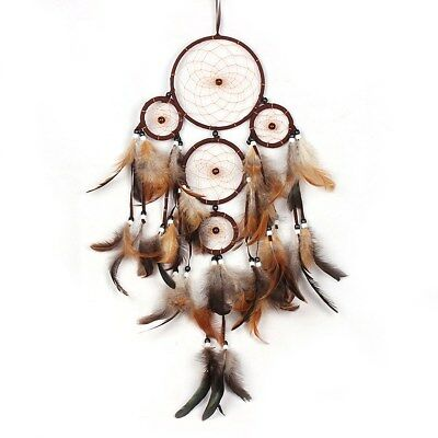 1PC Handmade Primitivism Dream Catcher with Feathers Wall Hanging Art Craft Gift