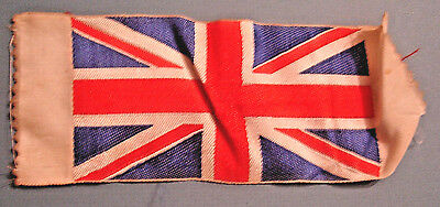 Vintage 1930's Small BRITISH UNION JACK WOVEN FABRIC FLAG