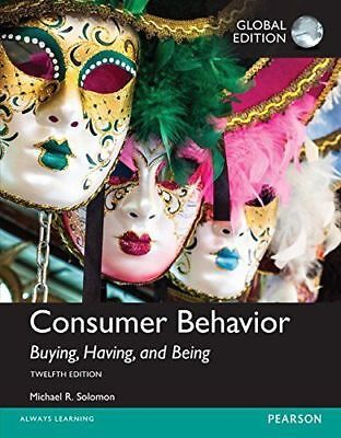Consumer Behavior: Buying, Having, Being 12th by Solomon (Global Edition) 12E
