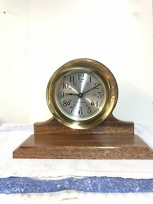 Seth Thomas ships clock base for CORSAIR E537-000 or Helmsman brand new.
