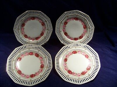 Four (4) Schumann Arzberg Germany, reticulated plates