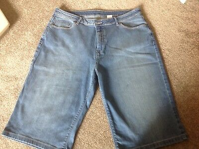 Marks & Spencer Ladies Denim Shorts with glitter detail Size 16 New
