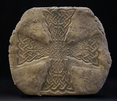 Ancient Viking Burial Sepulchral Slab Tile. Cross of Norse Knot, c 950-1000 Ad.