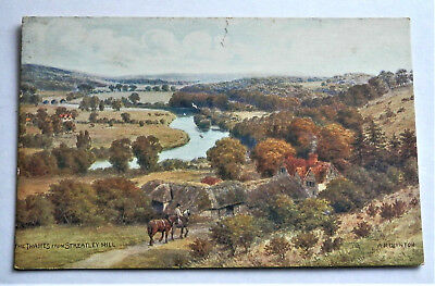 Old British Pre Ww2 Postcard *the Thames From Streatley Hill* Posted , Nice