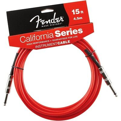 Fender California Instrument Cable Candy Apple Red 15 ft.