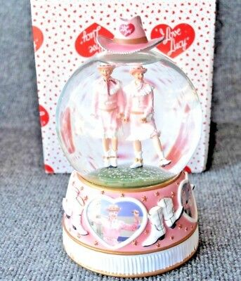 Lucille Ball: I Love Lucy Ethel Music Box Snow Globe Rodeo Rare Cowgirl
