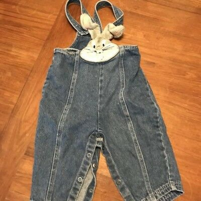 Vintage 90s BUGS BUNNY overalls 18 months warner brothers pants looney tunes 90s