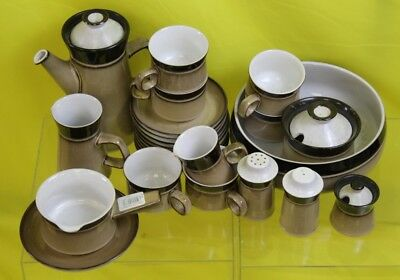 Brown/Cream Denby Tea Set ##RUF
