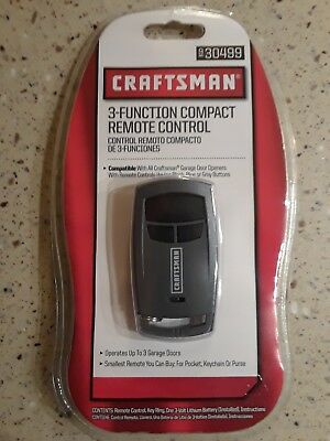 Craftsman  3-function compact remote control 930499 Brand New Sealed