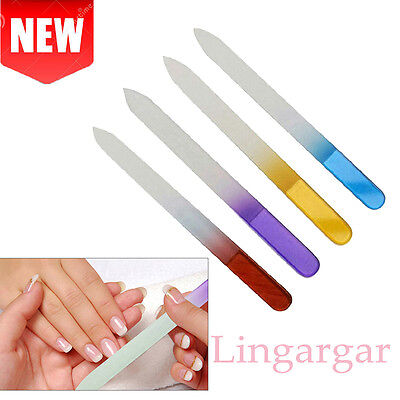4x Durable Pro Crystal Glass File Buffer Nail Art Files Manicure Device Tool