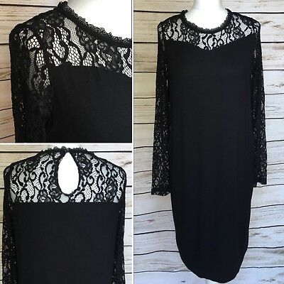 Ladies Blooming Marvellous Mothercare Black Lace Maternity Dress Size 14 UK