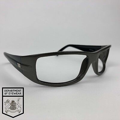RAY BAN eyeglass GREY + BLACK  RECTANGLE WRAP frame Authentic MOD: RB 4057