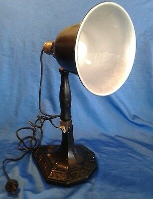 VINTAGE STEAMPUNK INDUSTRIAL LAMP Table Desktop Adjustable Arm WORKS SUPER BULB