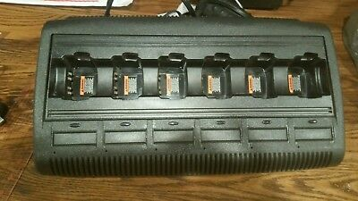 Used Motorola WPLN4197A GP Series IMPRES 6-Bay Multi-Unit Charger. TESTED