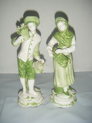 Jay Wilfred Numbered Ceramic Young Boy & Girl Figurines Vintage Made in Italy