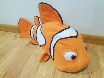 "Walt Disney Pixar FINDING NEMO Large Jumbo 28"" NEMO Stuffed Plush Clown Fish"