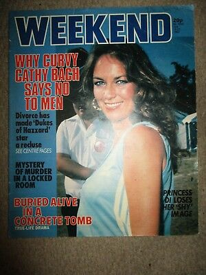 1982 Rare Catherine Bach Weekend Magazine Cover Clippings The Dukes Of Hazzard