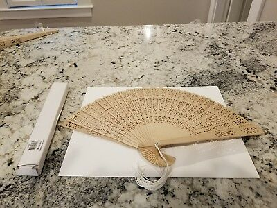Wood Spanish Style Flamenco Princess Folding Hand Held Fan With Tassle