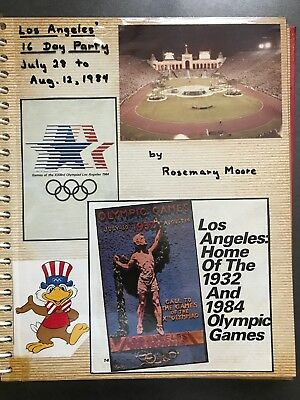 Vintage Scrapbook Album with Photos And Ephemera from 1984 Summer Olympics in LA
