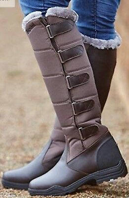 Brogini Forte Winter Long Boots Brown New Horse Riding Country Walking 5 6 Or 7