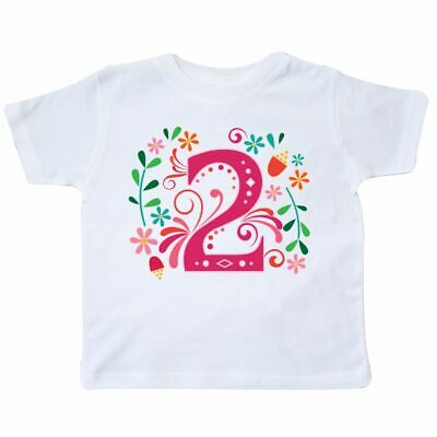 Inktastic 2nd Birthday 2 Year Old Girls Outfit Toddler T-Shirt Party Second Im