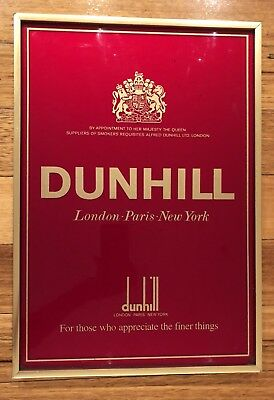 Dunhill Sign - Vintage Cigarette Tobacco Advertising - For Man Cave or Bar