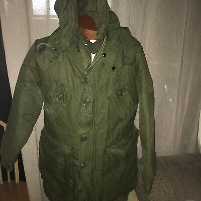 Canadian ARMY GREEN OD PARKA, EXTREME COLD WEATHER Nsn: 8415-21-870-5571