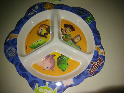 Set 2 Playtex Baby Toddler Plate 8in Buzz & Woody Toy Story Plastic