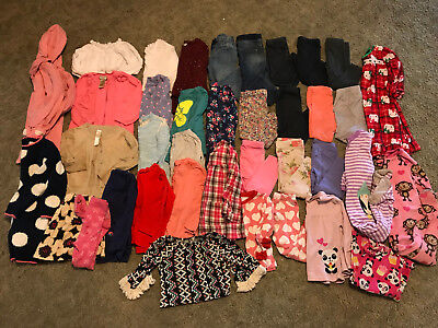 38 pc Lot Girls 24 Month/2T Fall/Winter Clothes Carters Oshkosh Old Navy Crazy 8