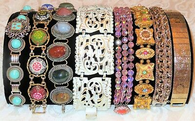 Lot of 62 Vintage ESTATE Bracelets Coro Emmons Haskell Weiss Bergere Marvella