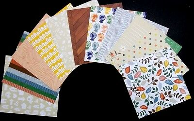 """Colourful  AMERICAN CRAFTS ASSORTED PAPERS x 11 - 15cm x 15cm - (6"""" x6"""")"""