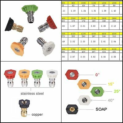 Twinkle Star Pressure Washer Spray Nozzle Tips Multiple Degrees 1/4 INCH 2.5 GMP